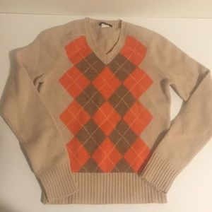 J.Crew Wool argyle Sweater PXS